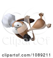 Clipart 3d Chef Dachshund Dog Cartwheeling Royalty Free CGI Illustration