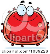 Clipart Smiling Red Blood Cell- Royalty Free Vector Illustration