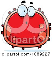 Clipart Surprised Red Blood Cell- Royalty Free Vector Illustration