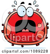 Clipart Scared Red Blood Cell Royalty Free Vector Illustration