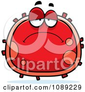 Clipart Sad Red Blood Cell- Royalty Free Vector Illustration