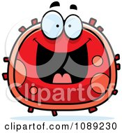 Clipart Grinning Red Blood Cell- Royalty Free Vector Illustration