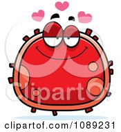 Clipart Infatuated Red Blood Cell Royalty Free Vector Illustration