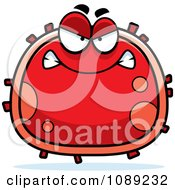Clipart Mad Red Blood Cell Royalty Free Vector Illustration
