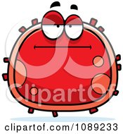 Clipart Bored Red Blood Cell Royalty Free Vector Illustration