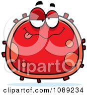 Clipart Drunk Red Blood Cell- Royalty Free Vector Illustration