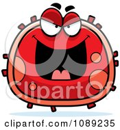 Clipart Evil Red Blood Cell- Royalty Free Vector Illustration