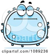 Clipart Bored White Blood Cell Royalty Free Vector Illustration by Cory Thoman
