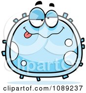 Clipart Drunk White Blood Cell Royalty Free Vector Illustration by Cory Thoman