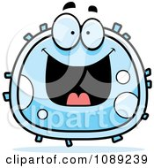 Clipart Grinning White Blood Cell Royalty Free Vector Illustration