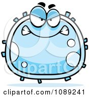 Clipart Mean White Blood Cell Royalty Free Vector Illustration by Cory Thoman