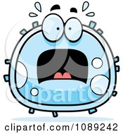 Clipart Scared White Blood Cell Royalty Free Vector Illustration by Cory Thoman