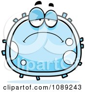 Clipart Sad White Blood Cell Royalty Free Vector Illustration by Cory Thoman