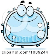 Clipart Smiling White Blood Cell Royalty Free Vector Illustration by Cory Thoman
