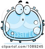 Clipart Surprised White Blood Cell Royalty Free Vector Illustration by Cory Thoman