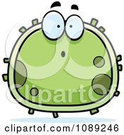 Clipart Chubby Surprised Germ Royalty Free Vector Illustration