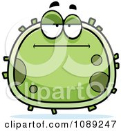 Clipart Chubby Bored Germ Royalty Free Vector Illustration
