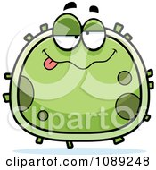 Clipart Chubby Drunk Germ Royalty Free Vector Illustration