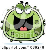 Clipart Chubby Evil Germ Royalty Free Vector Illustration
