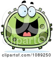 Clipart Chubby Grinning Germ Royalty Free Vector Illustration