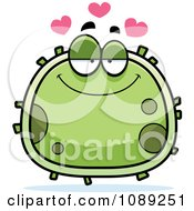Clipart Chubby Infatuated Germ Royalty Free Vector Illustration