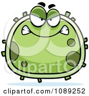 Clipart Chubby Mad Germ Royalty Free Vector Illustration