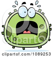 Clipart Chubby Scared Germ Royalty Free Vector Illustration