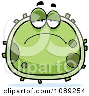 Clipart Chubby Sad Germ Royalty Free Vector Illustration