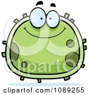 Clipart Chubby Smiling Germ Royalty Free Vector Illustration