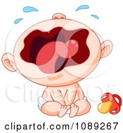 Clipart Wailing Baby Royalty Free Vector Illustration