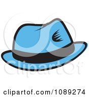 Clipart Blue Hat With A Black Band Royalty Free Vector Illustration