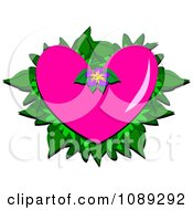 Clipart Pink Tropical Heart Royalty Free Vector Illustration by bpearth