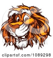 Clipart Friendly Tiger Mascot Face Royalty Free Vector Illustration