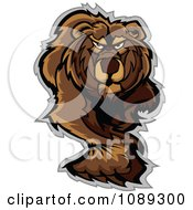 Clipart Walking Bear Mascot Royalty Free Vector Illustration by Chromaco