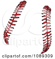 Clipart Red Baseball Lace Stitches Royalty Free Vector Illustration