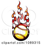 Clipart Fiery Baseball Royalty Free Vector Illustration