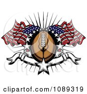 Clipart American Football With Stars And American Flags Royalty Free Vector Illustration by Chromaco