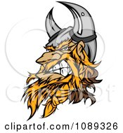 Clipart Viking Warrior Mascot Clenching His Jaw Royalty Free Vector Illustration