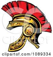 Gold Spartan Helmet