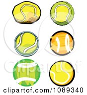 Clipart Tennis Ball Designs Royalty Free Vector Illustration by Chromaco