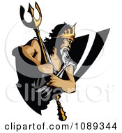Clipart King Titan Holding His Trident Royalty Free Vector Illustration