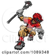 Clipart Strong Lacrosse Player Royalty Free Vector Illustration by Chromaco