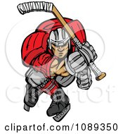 Clipart Ice Hockey Player Skating Royalty Free Vector Illustration