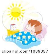 Clipart Boy Waking In ...