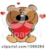 Valentine Teddy Bear Holding A Heart