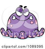 Clipart Chubby Mad Purple Octopus Royalty Free Vector Illustration by Cory Thoman