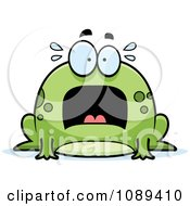 Clipart Chubby Scared Frog Royalty Free Vector Illustration