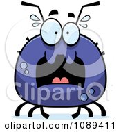 Clipart Chubby Scared Tick Royalty Free Vector Illustration by Cory Thoman