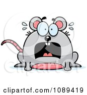 Clipart Chubby Scared Mouse Royalty Free Vector Illustration