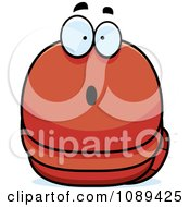 Clipart Chubby Surprised Orange Worm Royalty Free Vector Illustration by Cory Thoman